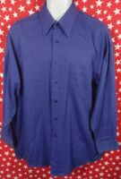 Van Heusen Men's Long Sleeve Shirt  Size 16 1/2 32/33 Blue Button Up