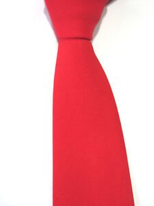 NO  NAME RED 3.25 INCH WIDE POLYESTER NECK TIE