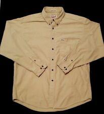 Woolrich Mens Shirt Size XL USA Sportsman Chamois Flannel Button Down Cotton Tan