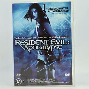 Resident evil APOCALYPSE Mila Jovovich DVD Good Condition Free Tracked Post