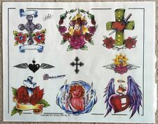 "Tattoo Studio Shop Flash Single By Eric Iovino Christianity Cross 11""X14"" Print"