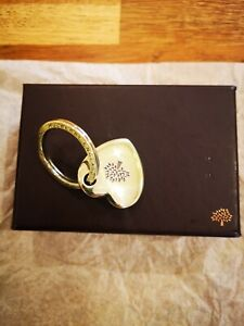 Genuine MULBERRY - Heart Keyring - Colour - gold - £125 - Retired Design