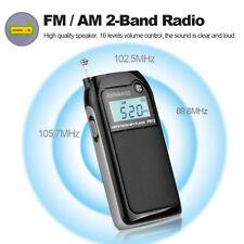 "Retekess AM FM Stereo Radio Pocket Player 1.2"" LCD 2 Band Digital Tuning TF F8L4"