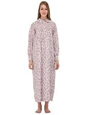 Long Sleeved Peter Pan Collar Pure Cotton Printed Nightdress | Cotton Lane
