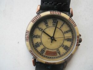 Fossil women's black leather.quartz,battery,water resist & Analog watch.BW-6746.
