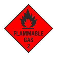 1x Flammable Gas Warning Sticker for Safety Laptop Tablet PC Truck Bumper Bottle