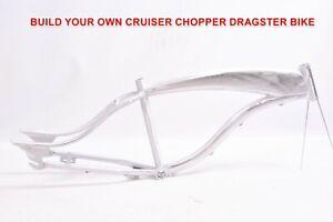 "Dragster Chopper Self Build Aluminium ""Bronx"" Men's Beach Cruiser Frame 15/26"""