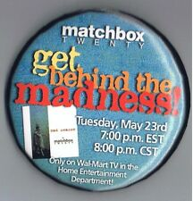 "2000 Matchbox Twenty 3"" Advertising Pinback Button Music Band Mad Season WalMart"