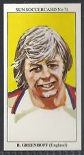 SUN-SOCCERCARDS FOOTBALL-#0071- MANCHESTER UNITED - BRIAN GREENHOFF