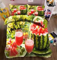 Refreshing Melon 3D Printing Duvet Quilt Doona Covers Pillow Case Bedding Sets