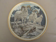 DALL SHEEP collector plate NORMAN ADAMS American Wildlife  LENOX