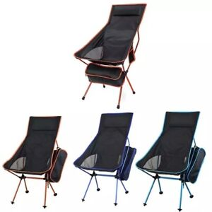 Folding Camping Chairs High Back outdoor Chair Outdoor Portable Fishing Chair UK