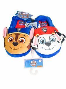 Paw Patrol, Nickelodeon, Boy's Slippers (Size 7-8),