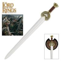 "Lord of the Rings King Theoden Herrugrim 37"" Sword with Plaque United Cutlery"