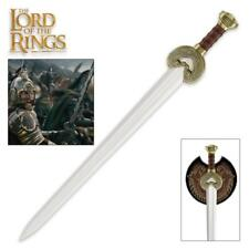 """Lord of the Rings King Theoden Herrugrim 37"""" Sword with Plaque United Cutlery"""