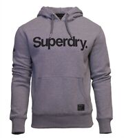 Superdry Mens New Military Graphic Overhead Long Sleeve Pullover Hoodie Grey
