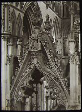 Glass Magic Lantern Slide CANOPY PERCY TOMB BEVERLEY CATHEDRAL C1890 PHOTO