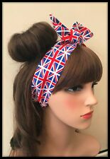 Union Jack Flag Fabric Headband Bandana Hairband Hair Tie Scarf Royal Wedding A