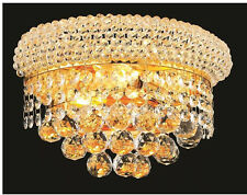 "Palace Bagel 12"" Crystal chandelier Wall Sconce - Gold Crystal  WALL LIGHT"