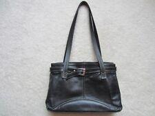 European Black Genuine Leather Classic Woman Girl Handbag Bag Purse