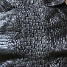 Crocodile Skin Leather Hide Exotic Skin Craft Supply Backhorn Black 42cm #12-1
