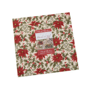 """Marches De Noel Layer Cake 44230LC pre cut Layer Cake 10 """" squares fabric quilt"""