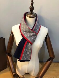 """Men's Fashion Scarf Long Shape Warm and Soft Feeling Cashmere Blend 20x60"""""""