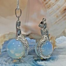 Opalite Mermaid Necklace Gemstone Pendant Silver or Leather Option