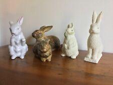 Vintage Lot of 5 Rabbit Figurines Dept 56, Wony, etc