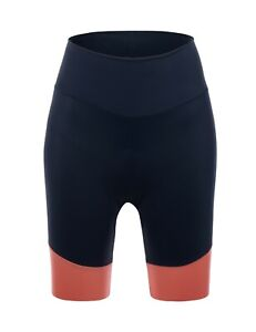 Womens Giada Cycling Shorts in Navy/Orange by Santini - Made in Italy