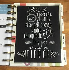 Fierce Two-Sided Dashboard for use with Happy Planner *Create 365*