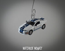 2011 White Ford Shelby GT350 1/64th Custom Christmas Ornament Adorno Mustang