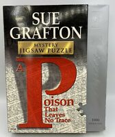 NEW Sue Grafton Mystery 1000 Piece Jigsaw Puzzle A Poison That Leaves No Trace