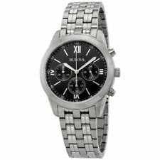 Bulova Classic Chronograph Black Dial Men's Watch 96A175
