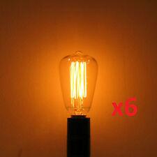 6-Pack 25W Edison ST-12 Reproduction Antique Light Bulb E12 Candelabra Base 120V