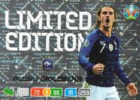 PANINI ADRENALYN XL UEFA EURO 2020 ANTOINE GRIEZMANN LIMITED EDITION CARD