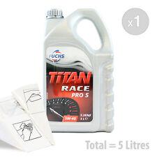 Car Engine Oil Service Kit / Pack 5 LITRES Fuchs Titan Race Pro S 5W-40 5L