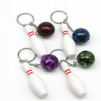 Home Keychain Bowling Pins Pendant 1PC Plastic Tools New Car Decoration Keyring