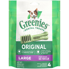 GREENIES Original Large Dog Dental Chews - 6 Ounces 4 Treats (Free Shipping)
