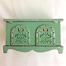 Antique Amish Handpainted Metal Blanket Chest Bank Fenstermaker Lancaster PA
