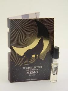 MEMO RUSSIAN LEATHER Eau de Parfum EDP 2ml Vial Sample Spray With Card