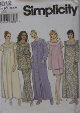 Simplicity Sleepwear - Pajama, Nightgown - Sizes - XS, S, M