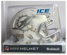 "Miami Dolphins NFL American Football Riddell White Ice 6"" Mini Speed Helmet"