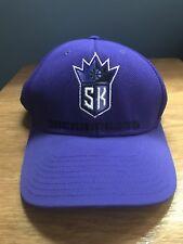 NBA Sacramento Kings Adidas Hat Velcro Back- Purple