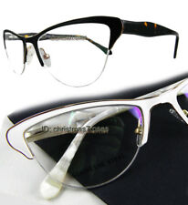 cbadca81c28 Women Cat eye Eyeglass frame Lady Optical spring hinges white black tortoise  New