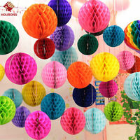 5Pcs Christmas Hanging Honeycomb Balls Paper Lanterns Garland Party Decoration