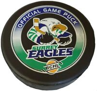 SURREY EAGLES BCHL OFFICIAL GAME PUCK RARE MADE IN 🇨🇦 LINDSAY MFG.