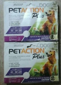 PetAction Plus, For Dogs, 45-88 lbs,  2 boxes of 3 doses 6 total