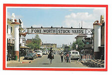 Fort Worth Texas Stock Yards Cowboy Horseback Vtg R. Young Postcard