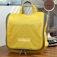 Travel Cosmetic Case Toiletry Makeup Bag Organizer Pouch Hanging Yellow Case
